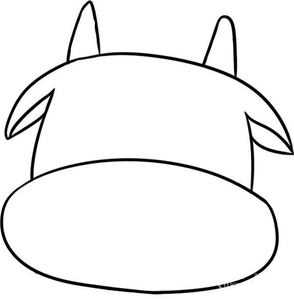 趣味简笔画:调皮的河马绘画步骤(2)