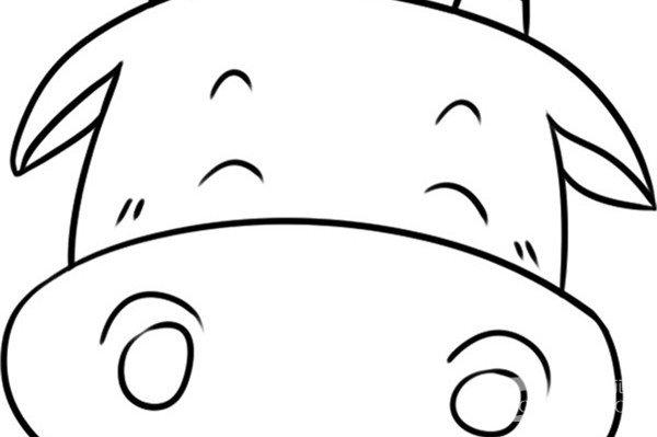 趣味简笔画:调皮的河马绘画步骤