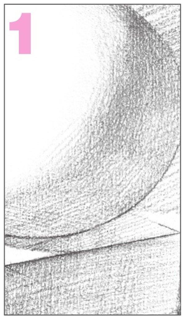 素描石膏绘画组合 球体和正方体绘画技巧 3图片