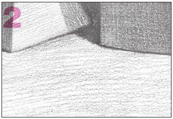 素描石膏组合 圆柱体 正方体 六棱锥 四棱锥绘画步骤 13图片