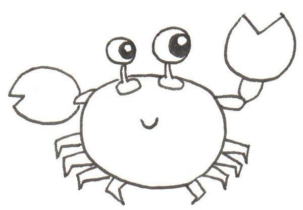 卡通画:螃蟹的绘画技法(4)