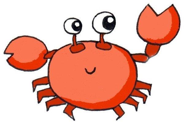 卡通画:螃蟹的绘画技法(5)