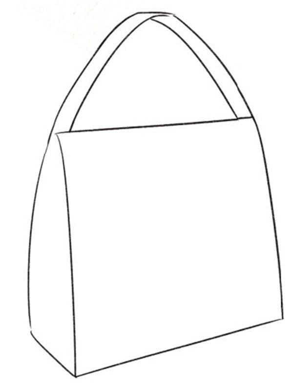 包包简笔画 步骤