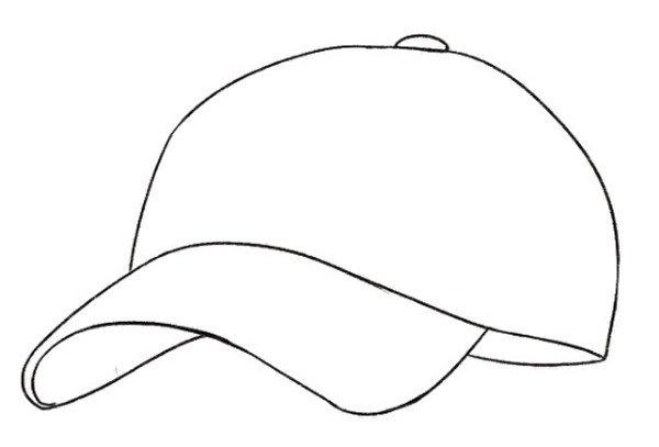2、在帽子上加上一些实线和虚线表现制作的痕迹,让帽子的细节丰富起来.
