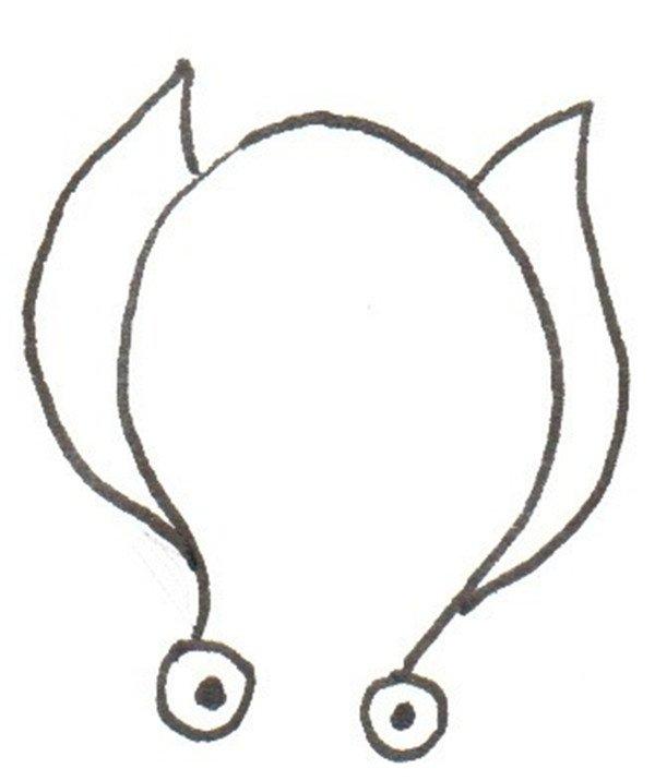 卡通画:章鱼的绘画步骤_儿童画教程_学画画_我爱画画网