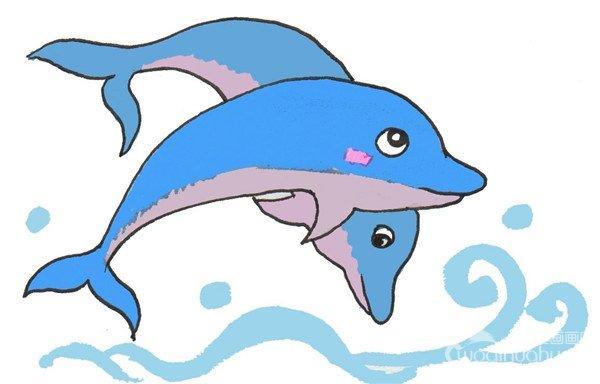 卡通画:海豚的绘画技法(3)
