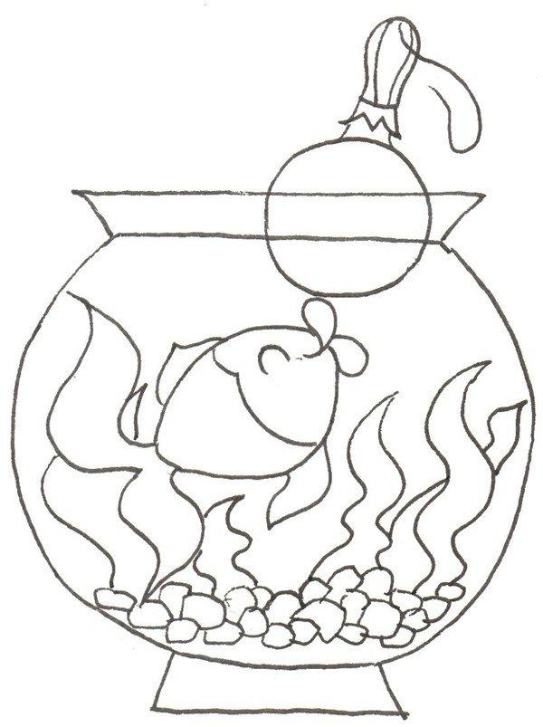 卡通画:小金鱼的绘画步骤(2)_儿童画教程_学画画_我爱