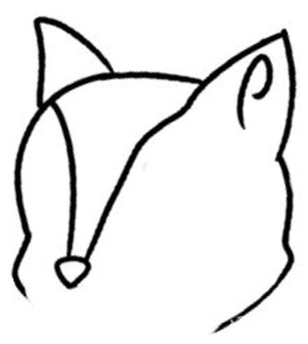 趣味简笔画:快乐购物的狐狸绘画步骤