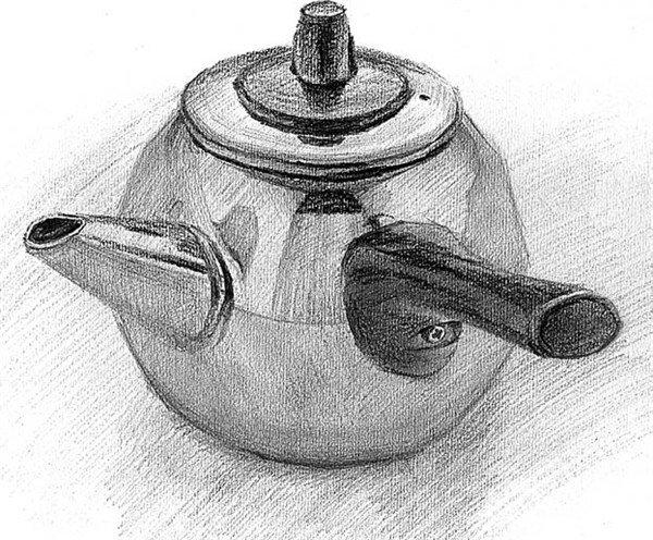 电水壶-素描技巧 提升记忆力图片