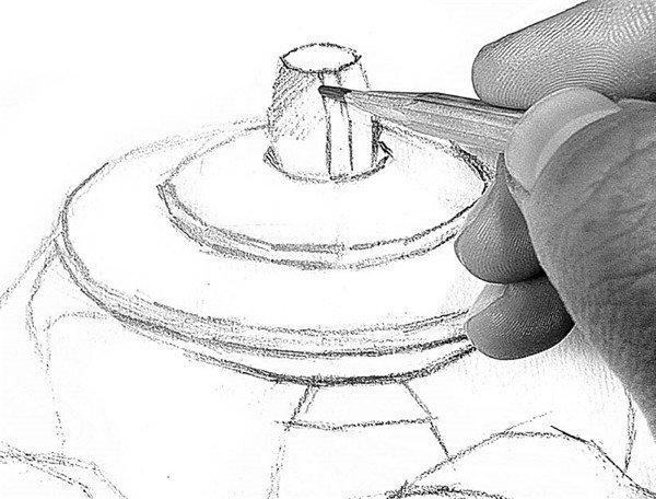 素描电水壶的绘画步骤11