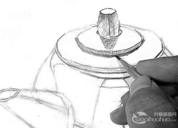 素描电水壶的绘画步骤12
