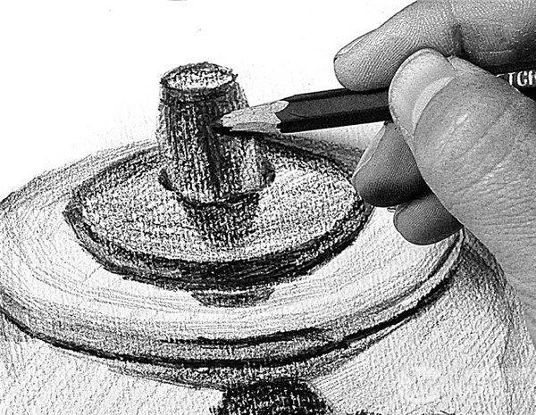素描电水壶的绘画步骤25