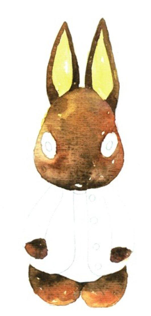 水彩道具表现质感:柔软毛料基本画法(3)