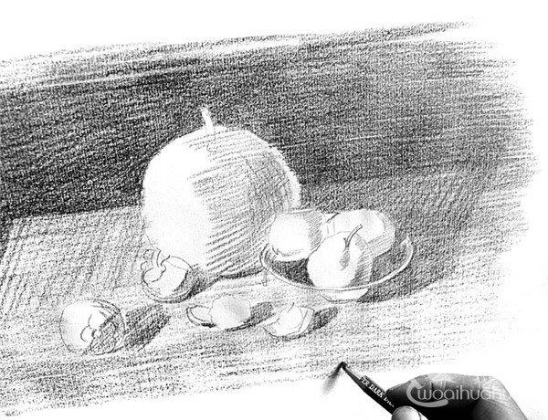 素描水果的绘画步骤7