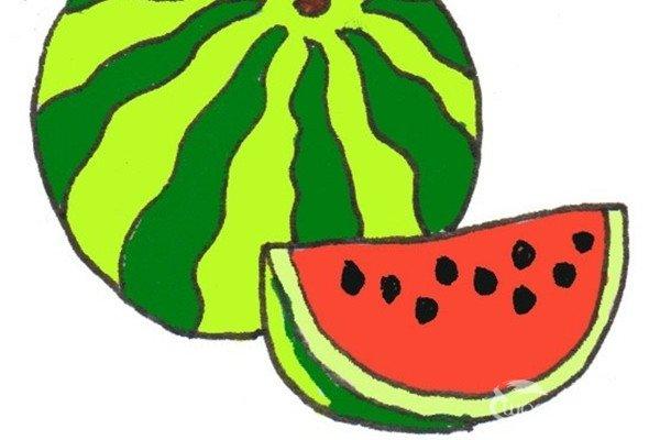 西瓜简笔画图片 各种各样的简笔画西瓜图片12副(4)