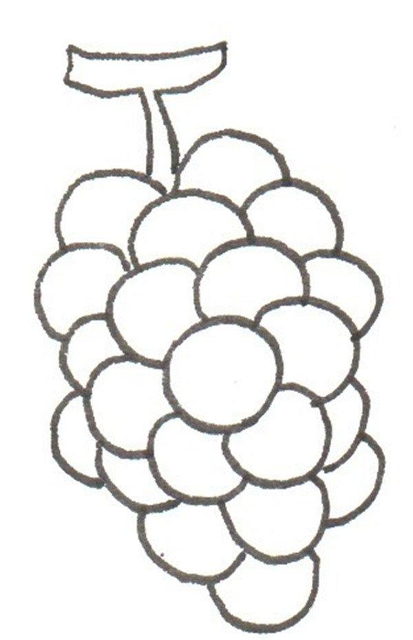 卡通画:葡萄酒的绘画步骤_儿童画教程_学画画_我爱