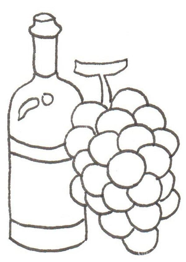 幼儿园酒瓶绘画图案