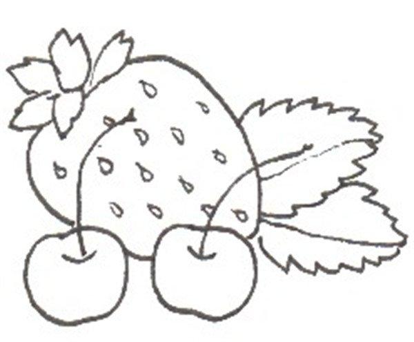 卡通画:水果大杂烩的绘画步骤