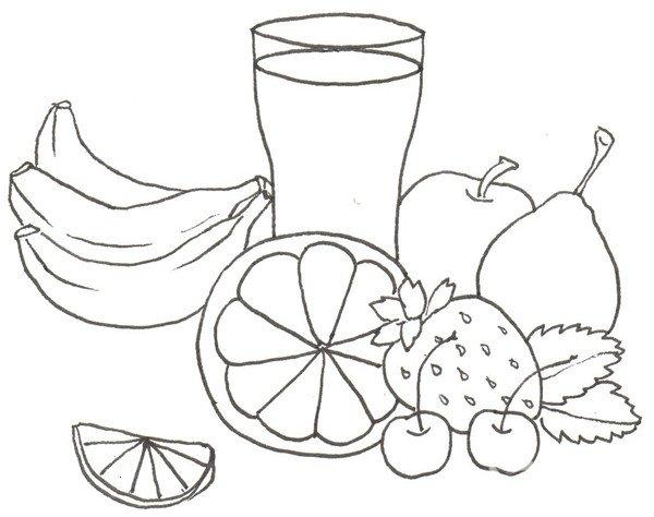 卡通画:水果大杂烩的绘画步骤(2)