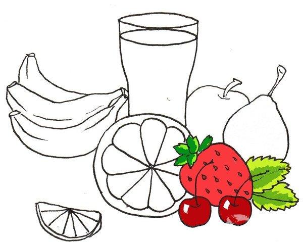 卡通画:水果大杂烩的绘画步骤(3)