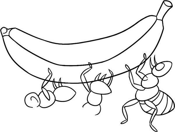 趣味简笔画:蚁多力量大绘画步骤(3)_儿童画教程_学_我