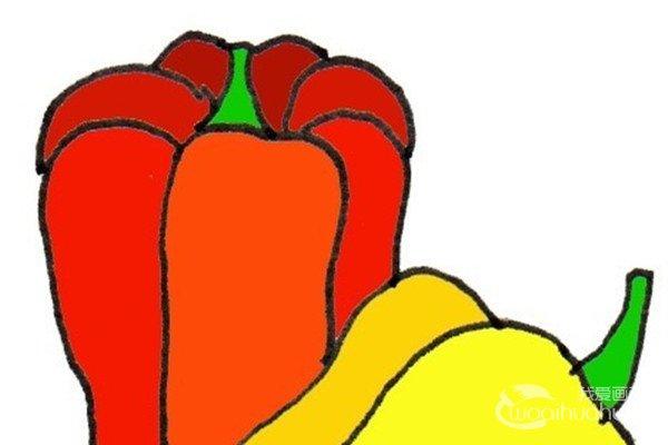 卡通画:彩椒的绘画步骤