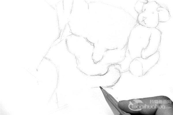 学画画 素描教程 素描动物 > 素描:小猫的绘画步骤      1,仔细观察猫