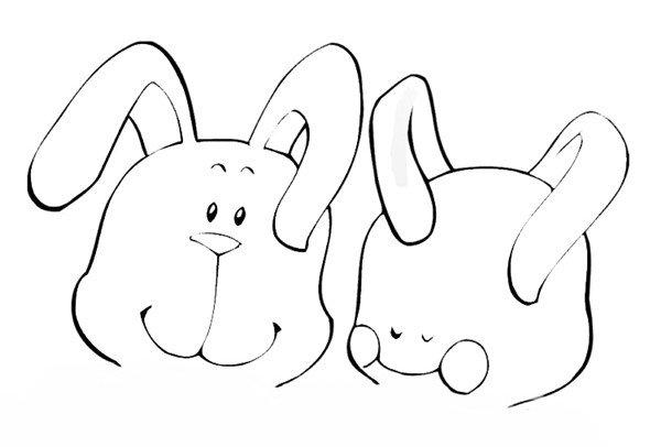 趣味简笔画:看书的小兔绘画步骤三