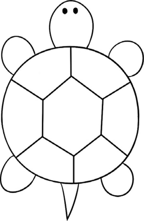 趣味简笔画:缓慢的乌龟绘画步骤(4)