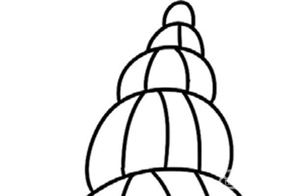 趣味简笔画:旋转的海螺绘画步骤