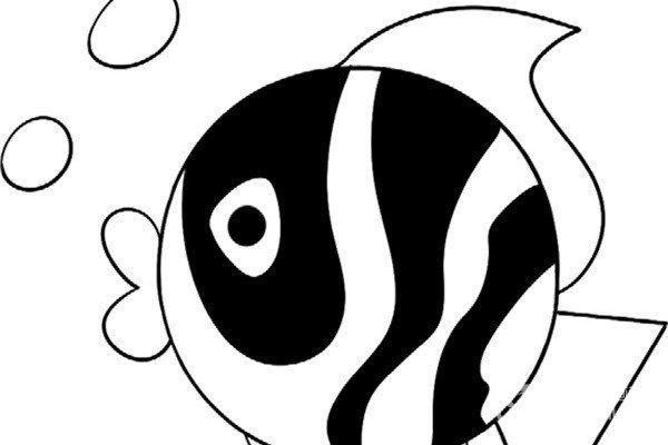 趣味简笔画:可爱的小鱼绘画步骤