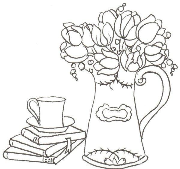 卡通画郁金香的绘画步骤(3)