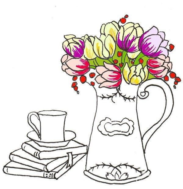 花瓶圆柱简笔画