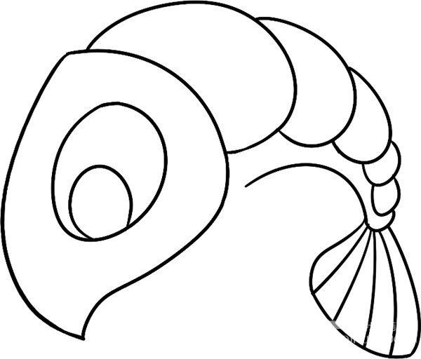 趣味简笔画 活跃的龙虾绘画步骤 3