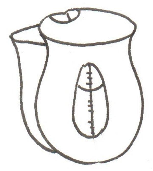 卡通画:水壶的绘画步骤(3)