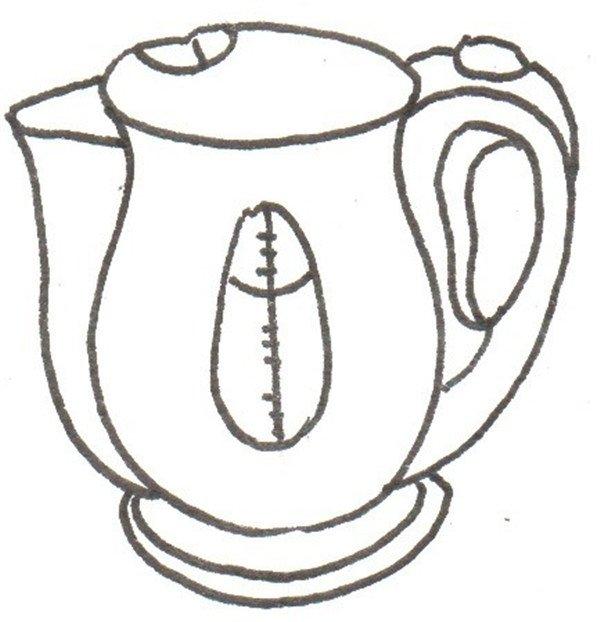 卡通画:水壶的绘画步骤(4)