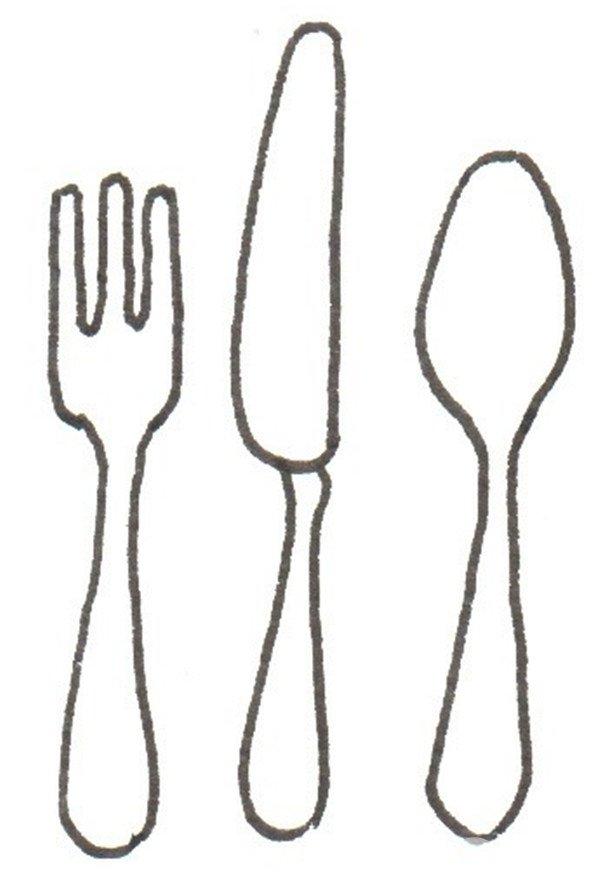 卡通画:餐具的绘画步骤(3)_儿童画教程_学画画_我爱