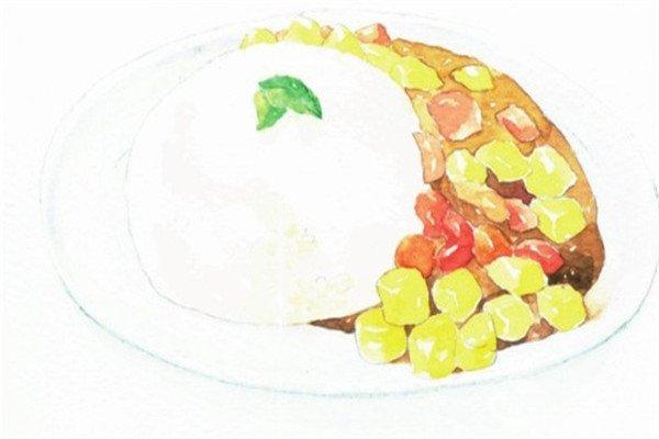 水彩:食物的画法