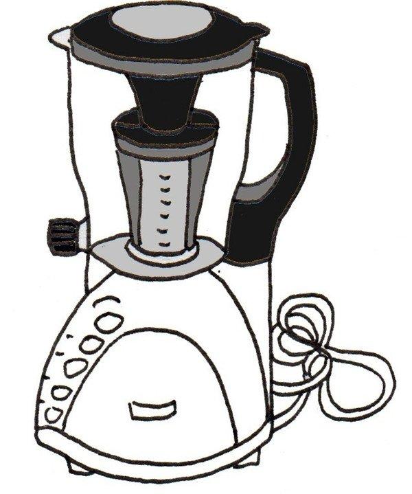 卡通画榨汁机的绘画步骤(3)_儿童画教程_学画画_我爱