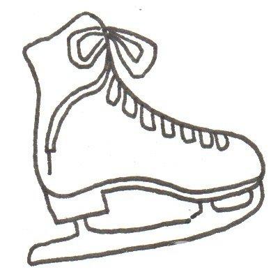 卡通画:冰鞋的绘画步骤(2)