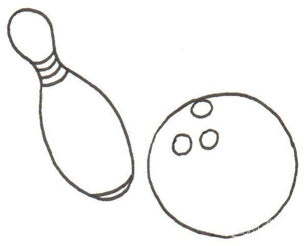 卡通画:保龄球的绘画步骤