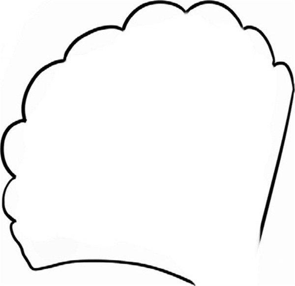 趣味简笔画:紧扣的贝壳绘画步骤(2)