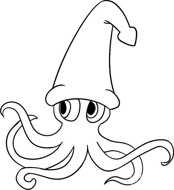 趣味简笔画 圣诞节的小章鱼绘画步骤 3