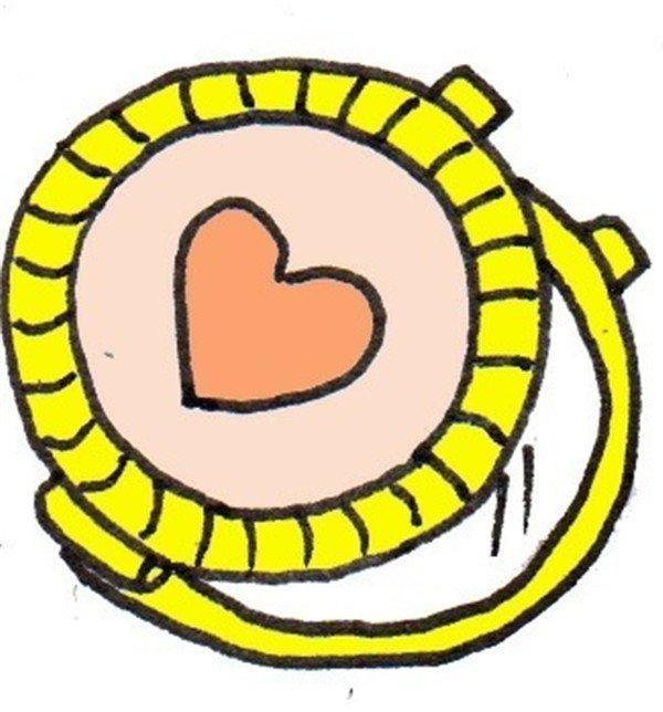 卡通画小镜子的绘画步骤(5)_儿童画教程_学画画_我爱