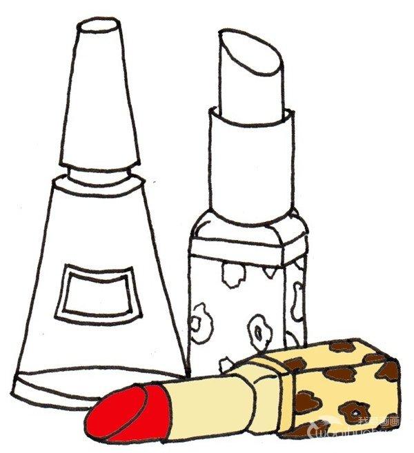卡通画:口红的绘画步骤(3)
