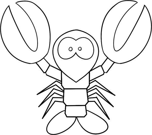 趣味简笔画 举着双钳的大龙虾绘画步骤 4
