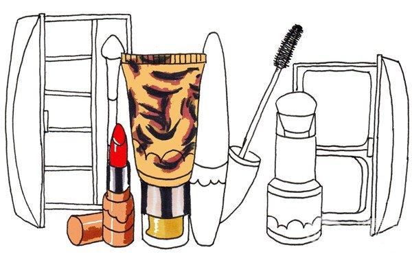 卡通画化妆品套装的绘画步骤(4)_儿童画教程_学画画