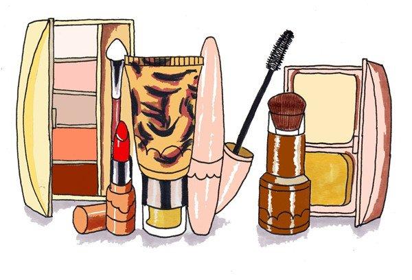 卡通画化妆品套装的绘画步骤(5)_儿童画教程_学画画