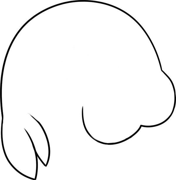 趣味简笔画 哭泣的海狮绘画步骤 2