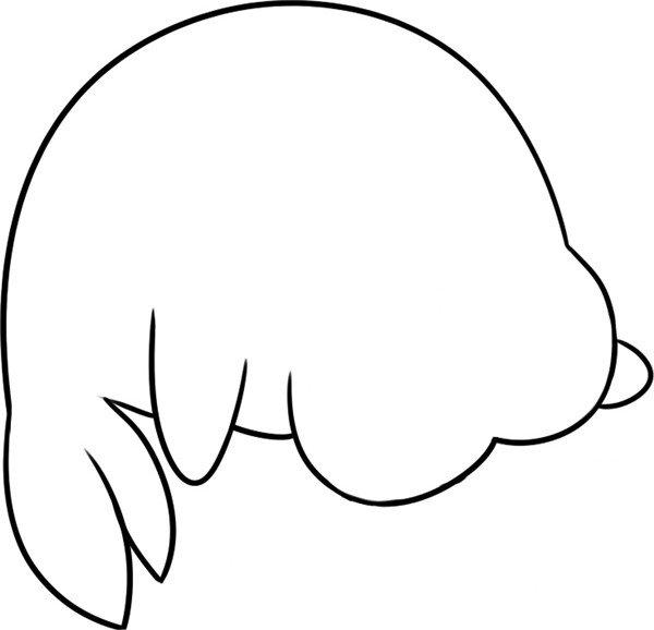 趣味简笔画:哭泣的海狮绘画步骤(3)